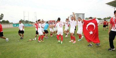 Erkek Milli Futbol Takımı finalde!