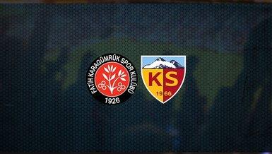 Fatih Karagümrük - Kayserispor maçı ne zaman, saat kaçta ve hangi kanalda canlı yayınlanacak?   Süper Lig