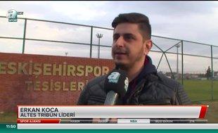 Eskişehirspor taraftarından tepki