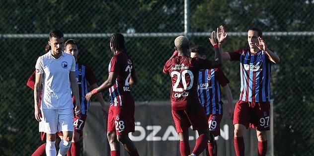 Trabzonspor'dan keyifli prova! Yusuf ve Rodallega'dan harika goller