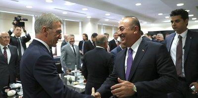 Trabzonspor Başkanı Ahmet Ağaoğlu'ndan Bakan Mevlüt Çavuşoğlu'na ziyaret