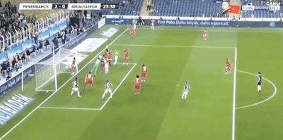 Fenerbahçe'nin Antalyaspor maçında bir golü verilmedi!
