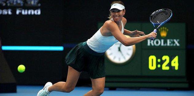Sharapova çeyrek finali göremedi