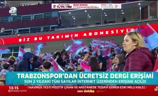 Trabzonspor'dan ücretsiz dergi erişimi