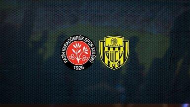Fatih Karagümrük - Ankaragücü maçı ne zaman, saat kaçta ve hangi kanalda canlı yayınlanacak?   Süper Lig