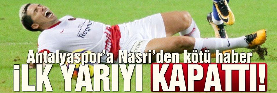 Antalyaspor'da Nasri ilk yarıyı kapattı