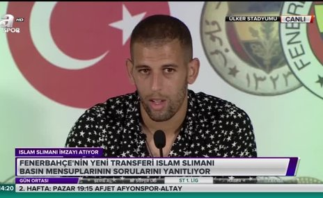 Fenerbahçe'nin yeni transferi Islam Slimani'den Feghouli sözleri