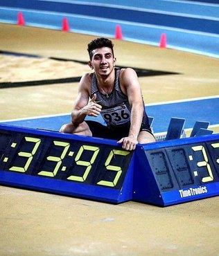 Yılın son rekoru milli atlet İlyas Çanakçı'dan