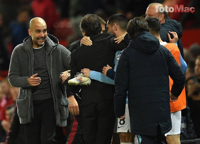 Manchester United - Manchester City maçından kareler...