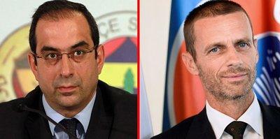 Fenerbahçe, UEFA başkanı Ceferin'le görüştü