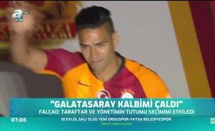 Falcao: Galatasaray kalbimi çaldı