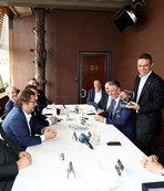 Fenerbahçe ile Anderlecht yöneticileri yemekte buluştu