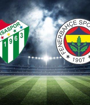 Bursaspor - Fenerbahçe maçı ne zaman saat kaçta hangi kanalda?