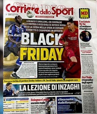 "Corriere dello Sport'tan ortalığı karıştıran ""Black Friday"" manşeti"
