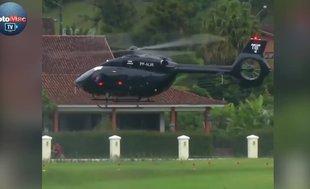 Neymar antrenmana helikopterle geldi
