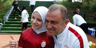 Suriyeli çocuklar Galatasaray idmanında