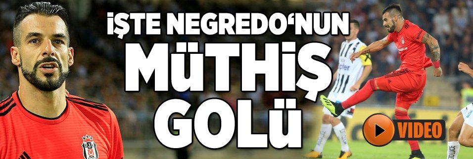 İşte Negredo'nun turu getiren golü