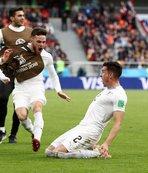 Uruguay Mısır'ı tek golle geçti