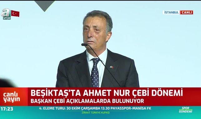 Beşiktaş'ta Ahmet Nur Çebi dönemi