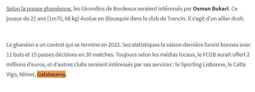 galatasarayin gozdesine bordeaux teklif goturdu 1597312445941 - Galatasaray'ın gözdesine Bordeaux teklif götürdü!