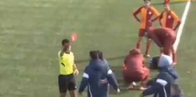 Galatasaray - Başakşehir U14 maçında gergin anlar