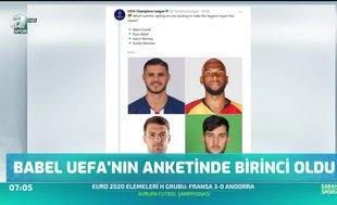 Babel Uefa'nın anketinde birinci oldu