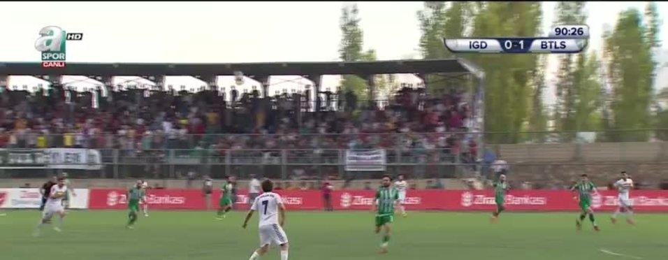 Iğdıresspor  0 - 1 Bitlis Özgüzelderespor (Cuma Nasir 90')