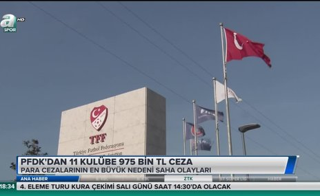 PFDK'dan 11 kulübe 975 bin TL ceza