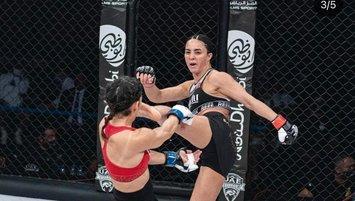 Sabriye Şengül'den MMA'da bir ilk! Türk kadın dövüşçü...
