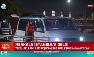 Beşiktaş'ın yeni transferi N'Sakala İstanbul'a geldi