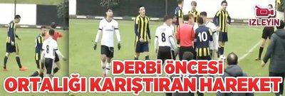 Fenerbahçeli oyuncudan Beşiktaşlı rakibine sert faul