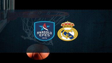 Anadolu Efes - Real Madrid maçı ne zaman? Saat kaçta? Hangi kanalda canlı yayınlanacak? | THY Euroleague