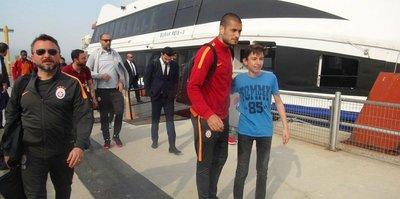 Galatasaray kafilesi Bursa'ya geldi
