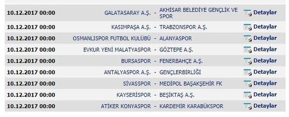 2017-2018 Süper Lig İlhan Cavcav Sezonu fikstürü belli oldu