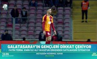 Galatasaray'da gençler dikkat çekiyor