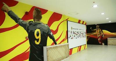 Yeni Malatya Stadyumu'nun koridorlarına sanatçı eli değdi