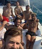 Trabzonspor'un gençleri galibiyeti tekne turu ile kutladı!