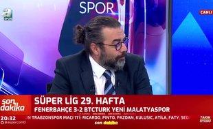 """Flaş sözler! """"Fenerbahçe'nin attığı 3. gole üzüldüm"""""""