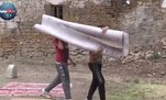 Yozgat'ta çocuklar eski halı ve kilimlerle 'halı saha' yaptı | Video haber