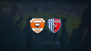 Adanaspor - Ankaraspor maçı saat kaçta ve hangi kanalda?