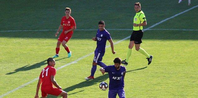 Afjet Afyonspor, hazırlık maçında farklı kazandı