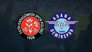 Fatih Karagümrük - Adana Demirspor maçı CANLI