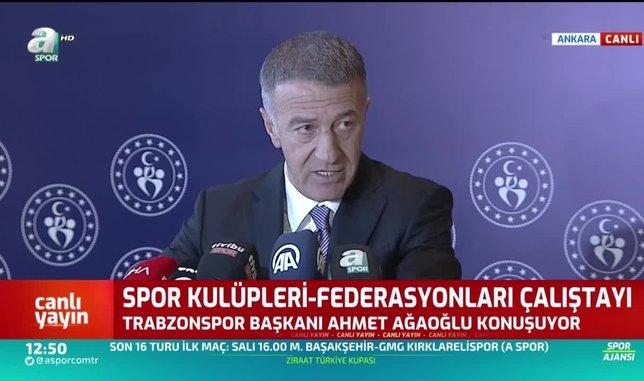 Trabzonspor Başkanı Ahmet Ağaoğlu: Ali Koç'a sosyal medyadan cevap vereceğiz