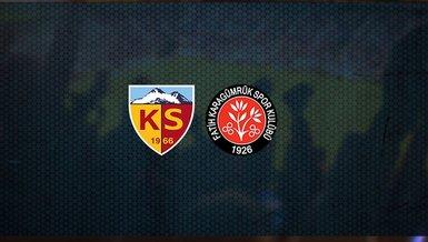 Kayserispor - Fatih Karagümrük maçı ne zaman, saat kaçta ve hangi kanalda canlı yayınlanacak?   Süper Lig