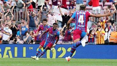 Son dakika spor haberi: Barcelona'da Ansu Fati golle geri döndü! 10 ay sonra...