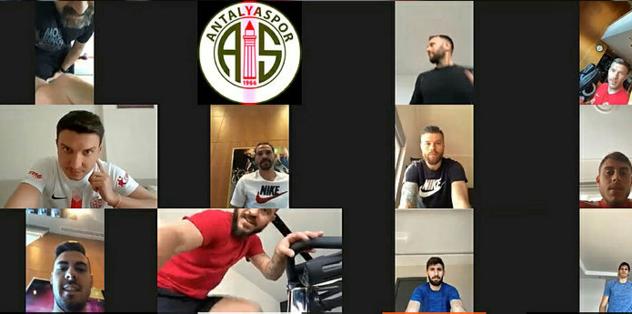 Antalyaspor'da telekonferans antrenmanları devam ediyor