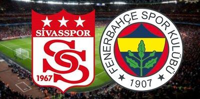 Sivasspor Fenerbahçe maçının 11'leri belli oldu