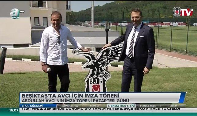 Beşiktaş'ta Abdullah Avcı için imza töreni