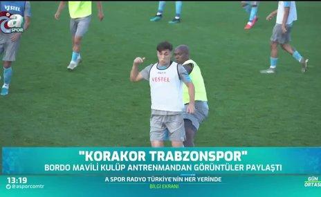 """Trabzonspor antrenman görüntülerini paylaştı! """"Korakor Trabzonspor"""""""
