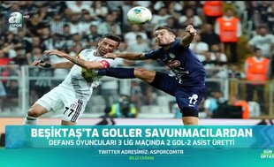 Beşiktaş'ta goller savunmacılardan